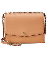 cea72ce2429a Tory Burch - Robinson Convertible Leather Shoulder Bag - Lyst