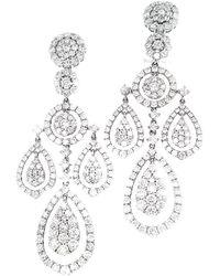 Diana M. Jewels - . Fine Jewellery 18k 7.82 Ct. Tw. Diamond Chandelier Earrings - Lyst