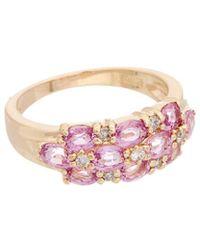 Effy - Fine Jewelry 14k 2.52 Ct. Tw. Diamond & Pink Sapphire Ring - Lyst