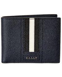 Bally - Tevye Striped Leather Bi-fold Wallet - Lyst