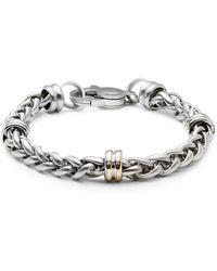 Saks Fifth Avenue - Stainless Steel Chain Bracelet - Lyst
