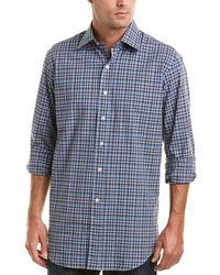 Ledbury - The Logan Heathered Check Classic Fit Woven Shirt - Lyst