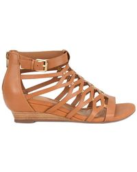 Söfft - Roslyn Leather Wedge Sandal - Lyst