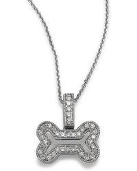KC Designs - 14k Diamond Bone-shaped Necklace - Lyst