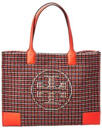 Tory Burch - Glenn Plaid Tote - Lyst