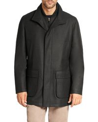 Saks Fifth Avenue - Wool Overcoat - Lyst