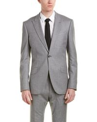 Reiss - 2pc Samuel Modern Fit Wool Suit With Flat Front Pant - Lyst