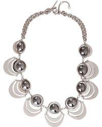 Lele Sadoughi - Celestial Galaxy Plated Orbit Necklace - Lyst