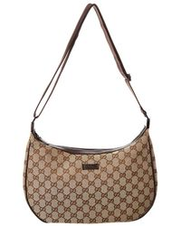 2461162585 Gucci Pre Owned Vintage Double Belt Bag GG Canvas in Black - Lyst