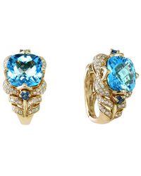 Effy - Fine Jewelry 14k 10.99 Ct. Tw. Diamond & Topaz Earrings - Lyst