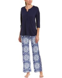 Ellen Tracy - 2pc Pyjama Pant Set - Lyst