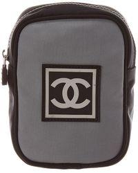 Chanel - Grey Nylon Sportline Pouch - Lyst