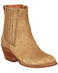 Lucchese - Women's Adele Leather Bootie - Lyst