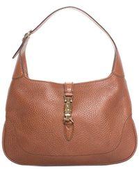 Gucci - Brown Leather Jackie Shoulder Bag - Lyst