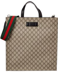 fcfc44c1a1335c Gucci GG Supreme Tote Bag in Black for Men - Lyst