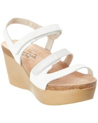 Naot - Canaan Leather Wedge Sandal - Lyst