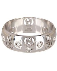 Gucci Icon Bold 18k Diamond Ring - Metallic