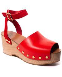 Céline - Céline Leather Platform Sandal - Lyst