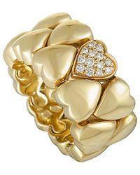 Cartier - Cartier 18k Diamond Heart Ring - Lyst