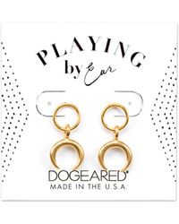 Dogeared - Playing By Ear 14k Over Silver Earrings - Lyst