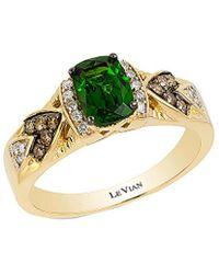 Le Vian - ® Chocolatier® 14k 0.98 Ct. Tw. Brown & White Diamond & Chrome Diopside Ring - Lyst
