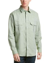 Bills Khakis - Standard Issue Classic Fit Linen-blend Woven Shirt - Lyst