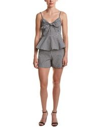 Haute Rogue - Gingham Two-piece Romper - Lyst