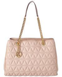 319859dd5f6c Lyst - Michael Michael Kors Hamilton Large Logo-print Satchel Bag in ...