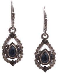 Armenta - New World Silver 1.23 Ct. Tw. Diamond & Gemstone Drop Earrings - Lyst