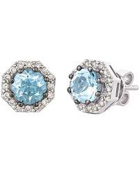 Le Vian - ? 14k 1.25 Ct. Tw. Diamond & Aquamarine Earrings - Lyst