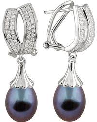 Splendid - 9-10mm Tahitian Pearl Drop Earrings - Lyst