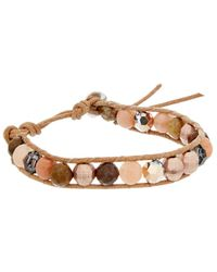 Chan Luu - Silver & Leather Gemstone & Crystal Bracelet - Lyst