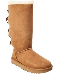 UGG - Bailey Bow Tall Ii Water-resistant Suede Boot - Lyst