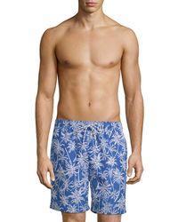 Brooks Brothers - Palm Tree Swim Trunks - Lyst