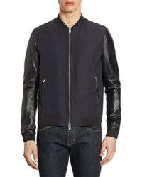 The Kooples - Ribbed Bomber Jacket - Lyst