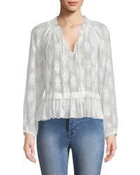 Rebecca Taylor - Selina Embroidered Blouse - Lyst