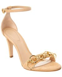 394843358 Lyst - Chloé Reese Chain-embellished Suede Sandals in Black