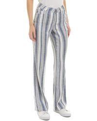 NYDJ - Waikiki Stripe Linen-blend Trouser - Lyst