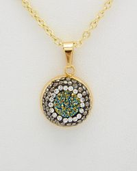 Elise M - Aria 18k Plated Druzy Necklace - Lyst