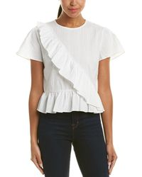 English Factory - Textured Ruffle Top - Lyst