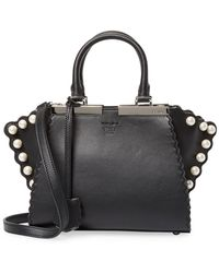 Fendi - 3jours Pearl Studded Leather Tote - Lyst ed2fc1333c34d
