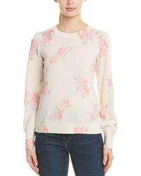 Rebecca Taylor - Floral Wool Sweater - Lyst