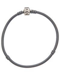 PANDORA - Silver Charm Bracelet - Lyst