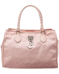Dior - Pink Trotter Nylon & Leather Large Tote - Lyst