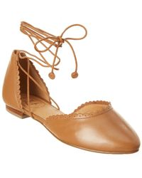 Jack Rogers - Camille Leather Flat - Lyst
