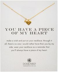 Dogeared - 14k Gold Over Silver You Have A Piece Of My Heart Necklace - Lyst
