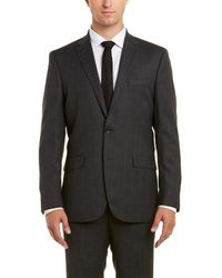 Kenneth Cole - New York 2pc Wool Suit With Pleated Pant - Lyst