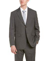 Façonnable - Façonnablewool-blend Suit W/ Flat Front Pant - Lyst