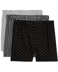 Ralph Lauren - Polo Three-pack Woven Boxers - Lyst