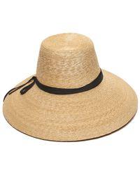 Gottex - Women's Natural & Black Cote D'azur Hat - Lyst